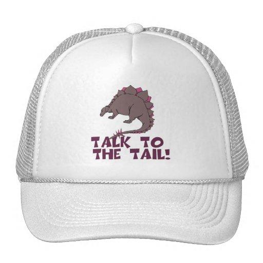 Talk to the Tail DInosaur Trucker Hat