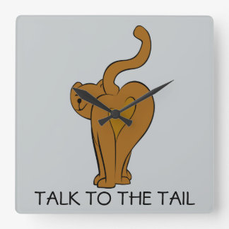 Talk to the Tail,  Funny Cat Wall Clock