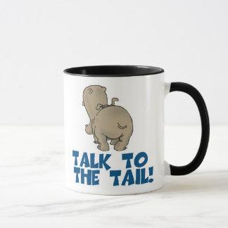 Talk to the Tail Hippo Mug