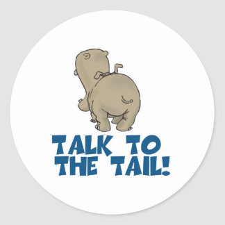 Talk to the Tail Hippo Sticker