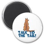 Talk to the Tail Kangaroo 2 Inch Round Magnet