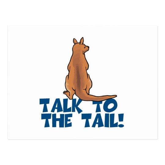 Talk to the Tail Kangaroo Postcard