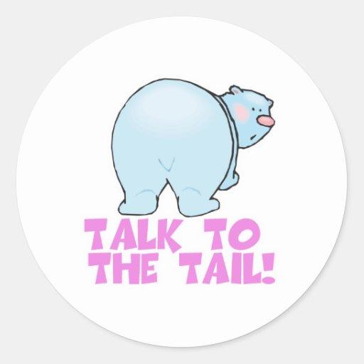 Talk to the Tail Polar Bear Classic Round Sticker