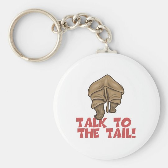 Talk to the Tail Rhino Keychain