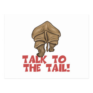 Talk to the Tail Rhino Postcard
