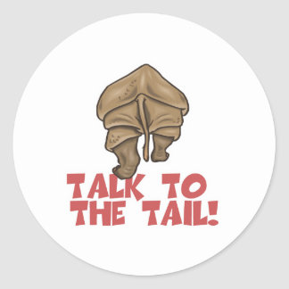 Talk to the Tail Rhino Round Stickers