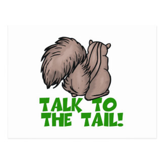 Talk to the Tail Squirrel Postcard
