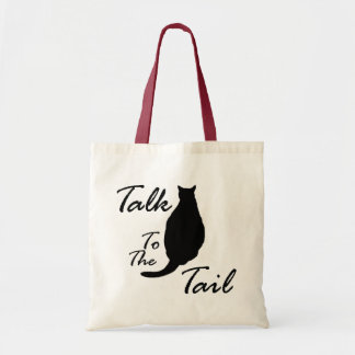 """""""Talk To The Tail"""" tote bag"""