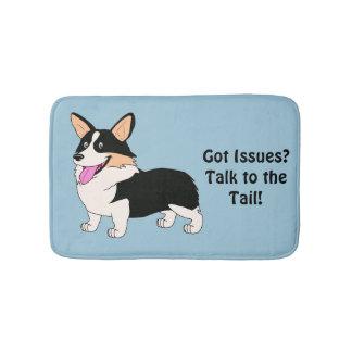Talk to the Tail Tricolor Corgi Bathroom Mat