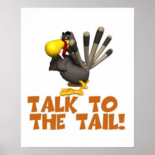 Talk to the Tail Turkey Print