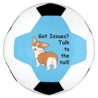 Talk to the Tail Welsh Corgi Soccer Ball