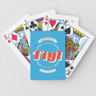 Talk To You Later Bicycle Playing Cards