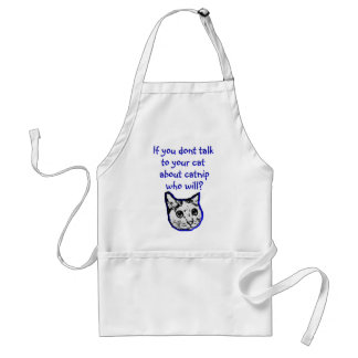 Talk to your cat about catnip adult apron