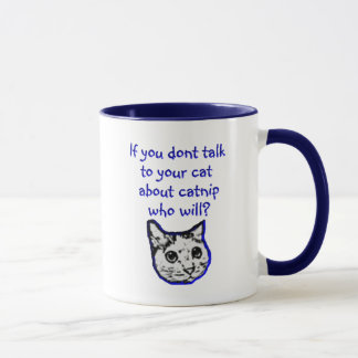 Talk to your cat about catnip mug