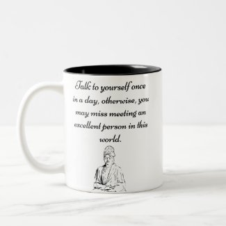 """Talk to yourself"" - Motivational Mug"