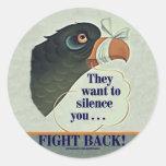 Talk Too Much Classic Round Sticker
