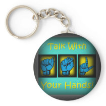 Talk With Your Hands (2) Keychain