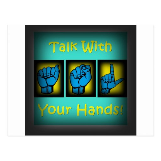 Talk With Your Hands (2) Postcard