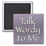 Talk Wordy to Me Purple Magnet