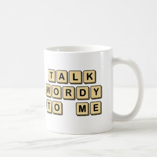 Talk Wordy to Me Wooden Tile Mug
