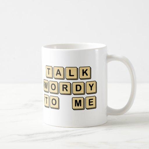 Talk Wordy to Me Wooden Tile Mug