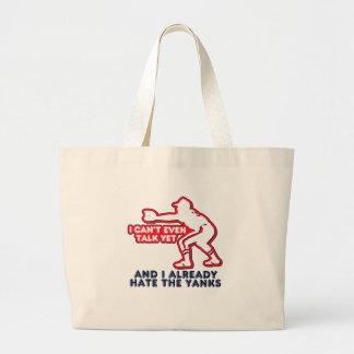 Talk Yet Yankees Hater Jumbo Tote Bag