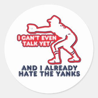 Talk Yet Yankees Hater Classic Round Sticker
