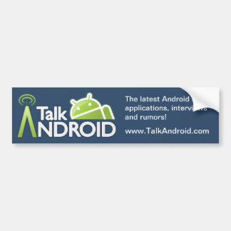 TalkAndroid Bumper Sticker