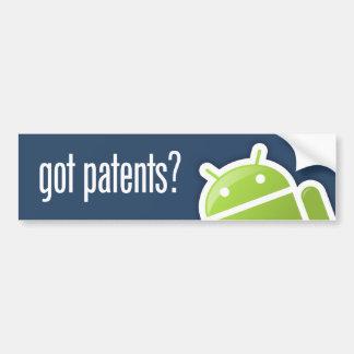 TalkAndroid Got Patents Bumper Sticker