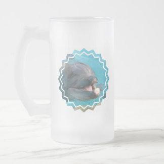 Talkative Dolphin Frosted Beer Mug