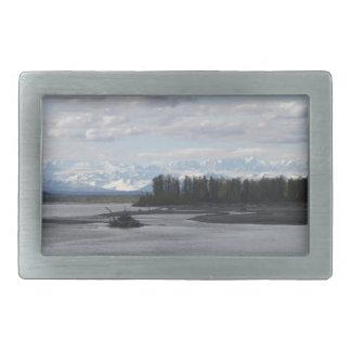 Talkeetna Alaska Hebilla Cinturon Rectangular