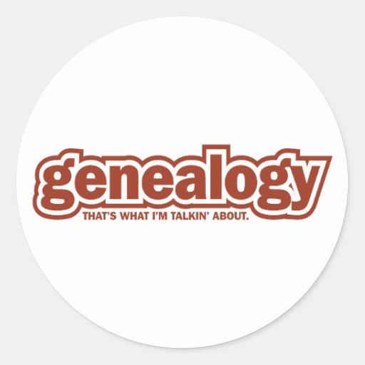 Talkin' About Genealogy Classic Round Sticker