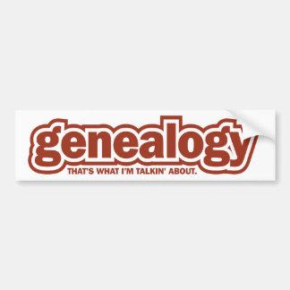 Talkin sobre la genealogía pegatina de parachoque