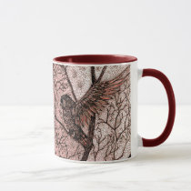Talkin' Trash Dragon and Owl Coffee Cup