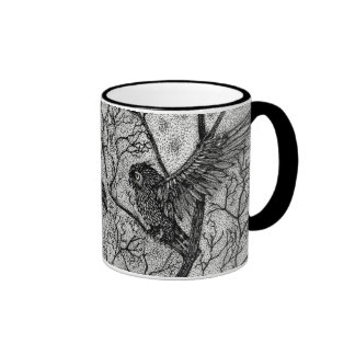 Talkin' Trash Dragon and Owl Coffee Mug