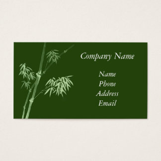 Talking About Graceful Bamboo Business Card