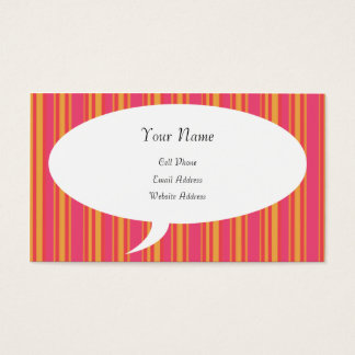 Talking About Me Striped Profile Card