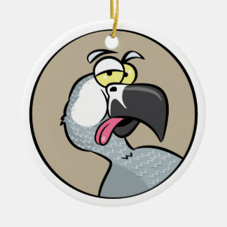 Talking African Grey Parrot Ceramic Ornament