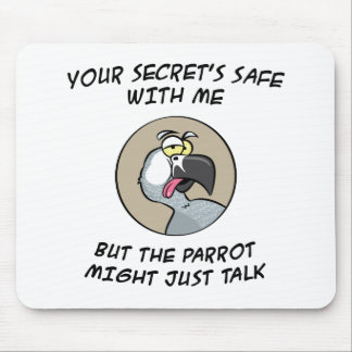 Talking African Grey Parrot Mouse Pad