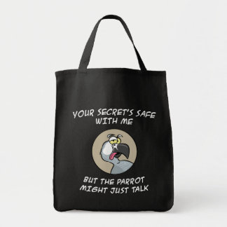 Talking African Grey Parrot Tote Bag