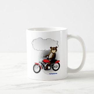 Talking Biker Teddy Bear Classic White Coffee Mug