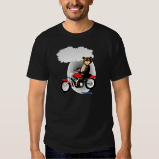 Talking Biker Teddy Bear T Shirt