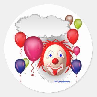 Talking Birthday Clown Classic Round Sticker