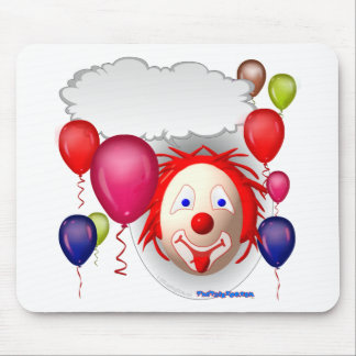 Talking Birthday Clown Mouse Pad