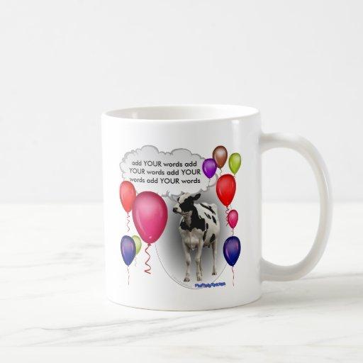 talking birthday cow classic white coffee mug