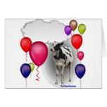 talking birthday cow greeting card