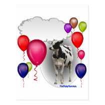 talking birthday cow postcard
