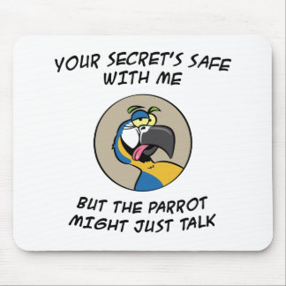 Talking Blue Macaw Parrot Mouse Pad