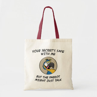 Talking Blue Macaw Parrot Tote Bag