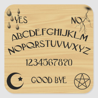 Talking Board Square Sticker